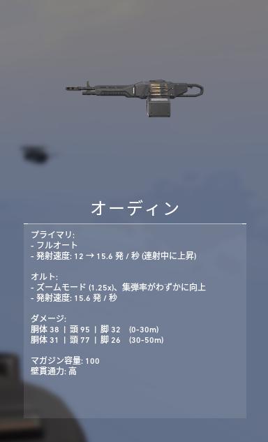 ヴァロラント 武器 オーディン