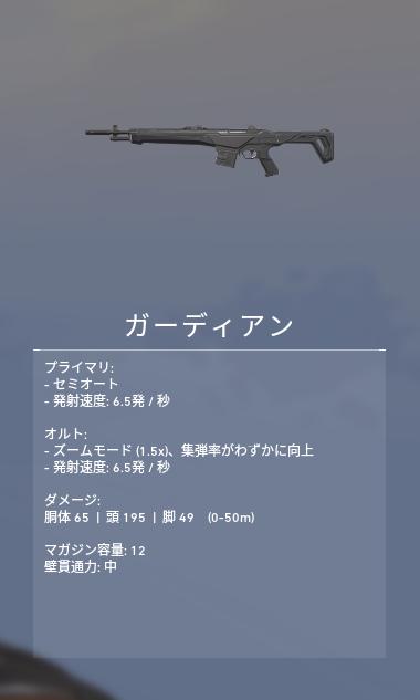 ヴァロラント 武器 ガーディアン