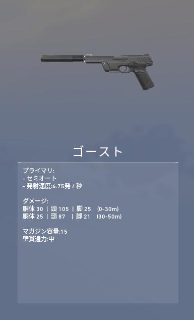 ヴァロラント 武器 ゴースト
